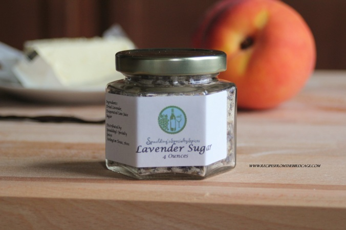 Lavender adds a mild, floral note to organic cane sugar.